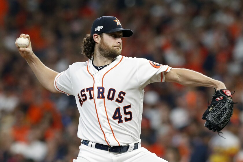 Will the Angels beat out the New York Yankees and others in their pursuit of free-agent pitcher Gerrit Cole?