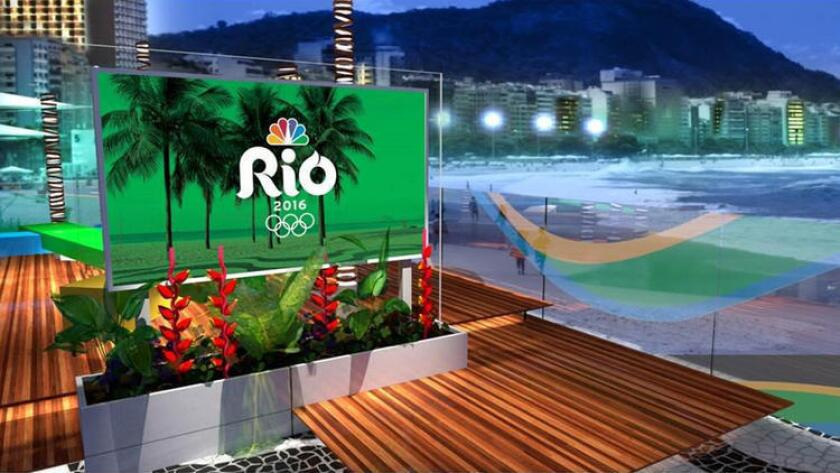 NBC's daytime and late night set for the Rio Olympics located on Copacabana Beach in Rio.