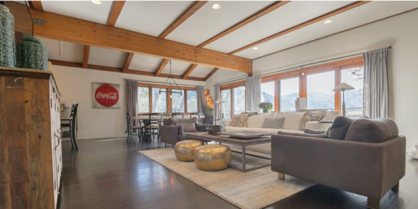 Yannick Bisson's Calabasas retreat takes in views of the Santa Monica Mountains.