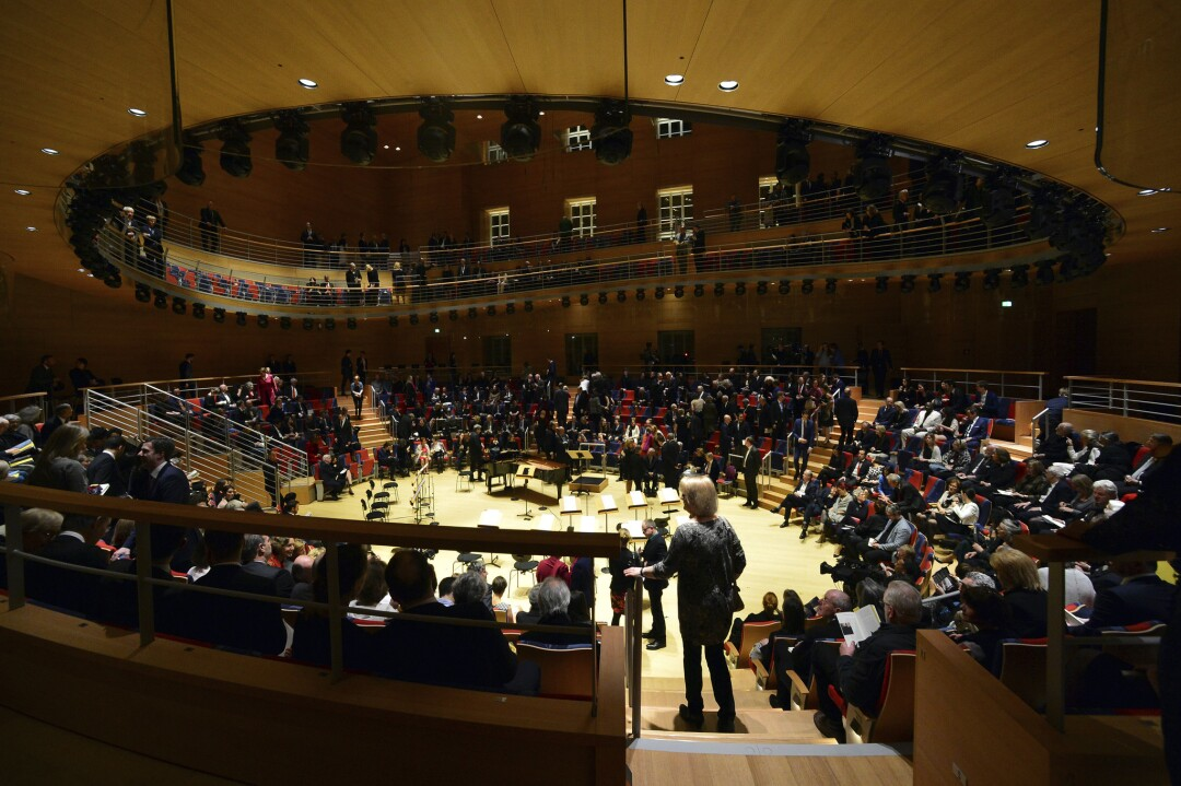 Pierre Boulez Hall in the Barenboim Said Academy  in Berlin