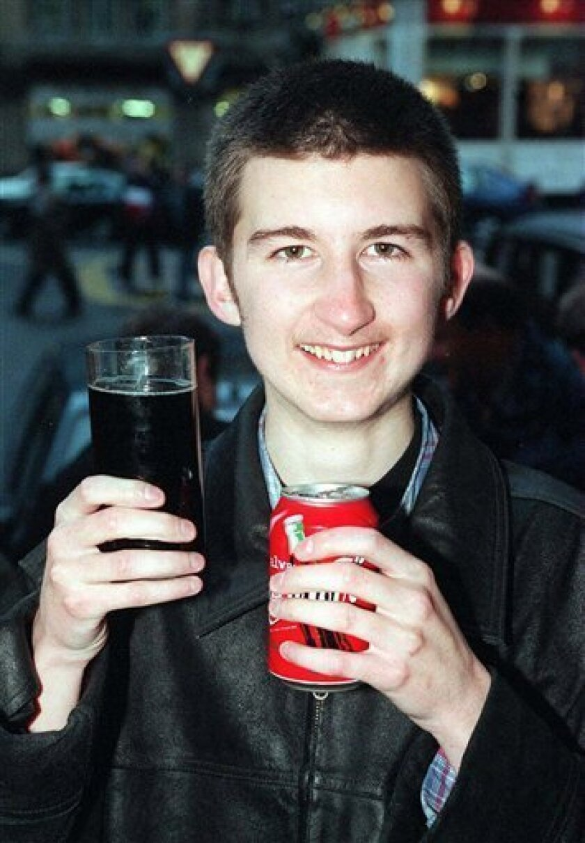 FILE - This is a Nov. 24, 2007 file photo of one of Britain's youngest lottery winners Stuart Donnelly. Police say they are investigating the death of Stuart Donnelly who became a millionaire in Britain's lottery when he was 17. Dumfries and Galloway Police said Thursday Jan. 7, 2010 they are looking into the death of 29-year-old Stuart Donnelly. He was found dead at his home in Castle Douglas in southwest Scotland earlier this week. (AP Photo/PA, File)