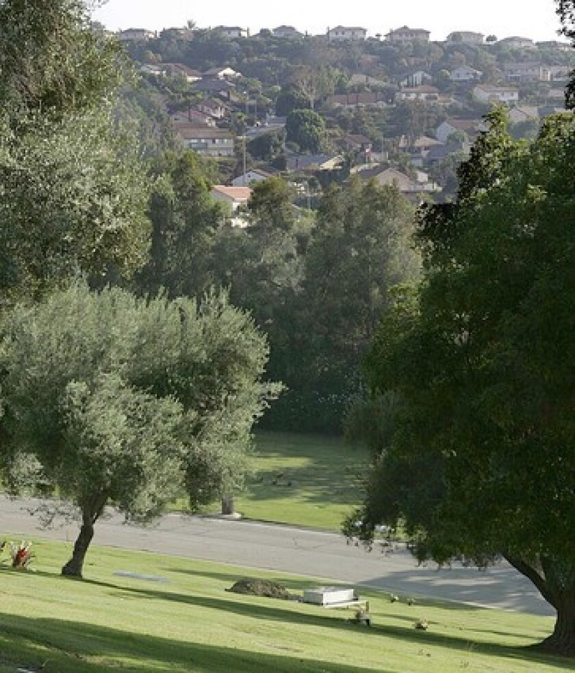 The peaceful Spyglass Hills Estate neighborhood overlooks Rose Hills Memorial Park in Whittier. Area homes were constructed starting in the 1960s through the 1980s.
