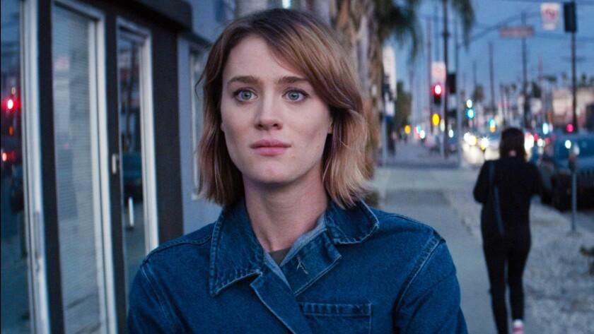 "McKenzie Davis in the movie ""Izzy Gets … Across Town."""