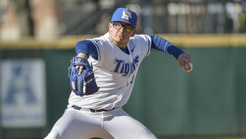 Memphis pitcher Danny Denz.