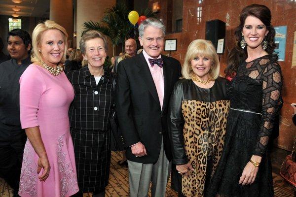 Muffy Walker, Anne and Chuck Dick, Jeanne Larson, Evva Fenison