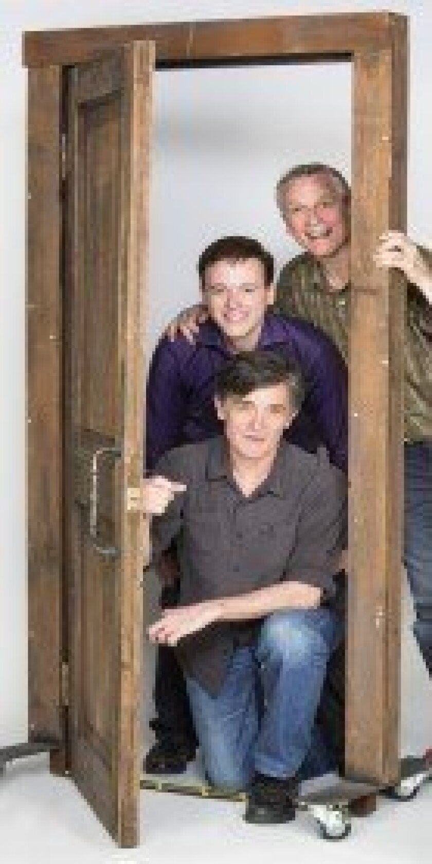 """(From top) Playwright Rick Elice, composer Michael Patrick Walker and director Roger Rees combine their talents in The Old Globe Theatre's world premiere of 'Dog and Pony,"""" slated for May 28-June 29."""