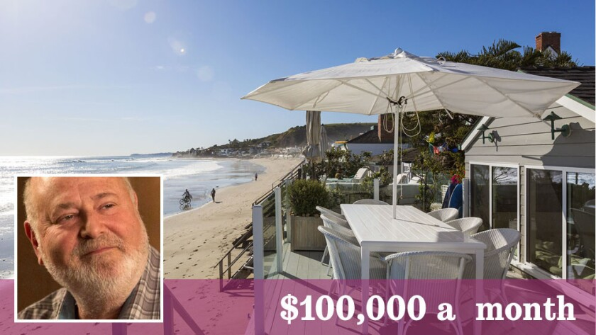 Rob Reiner has put his Malibu beach house up for lease at $100,000 for the month of July.