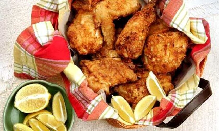 FRIED CHICKEN: The golden brown crust is made with buttermilk, and the chicken is cut into 12 pieces instead of the usual six or eight.