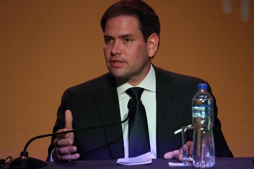El senador estadounidense Marco Rubio ofrece una rueda de prensa. EFE/Archivo