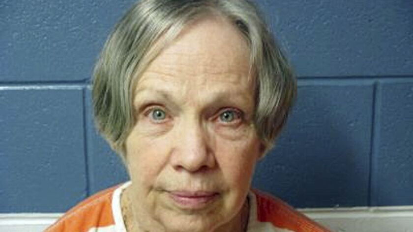 FILE - This April 8, 2016, file photo, provided by Utah State Prison shows Wanda Barzee. Appearing i