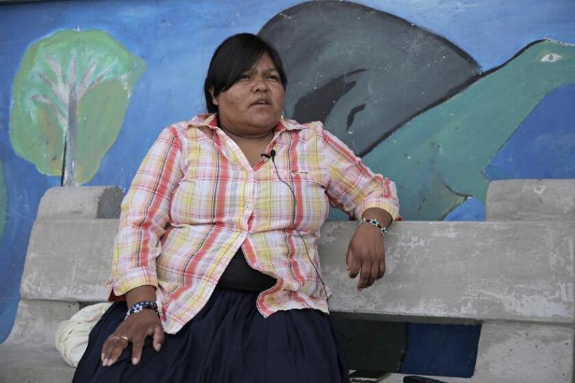 La segunda gobernadora de la comunidad rarámuri en Ciudad Juárez, Rosalinda Guadalajara.
