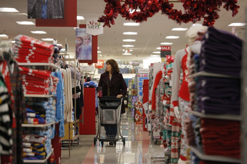 A woman shops at Kohl's in November