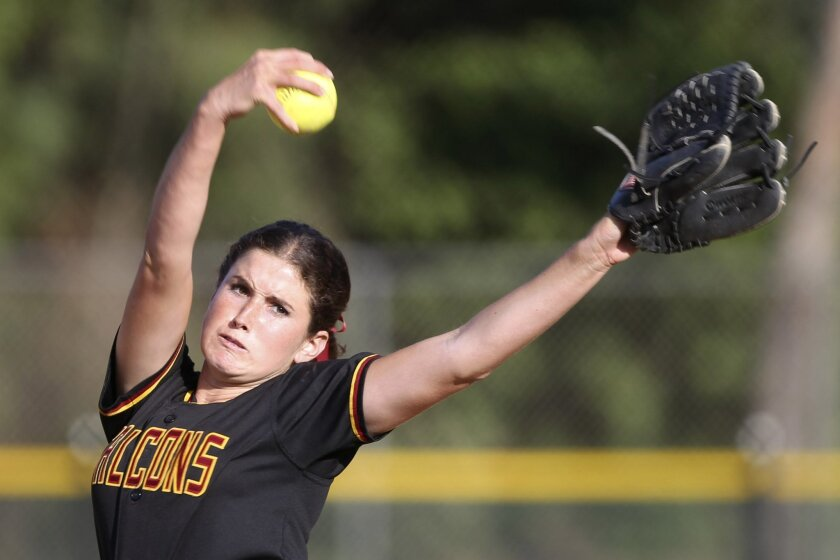 Torrey Pines pitcher Rachel Nasland earned a scholarship to Notre Dame with her academics and athletics.