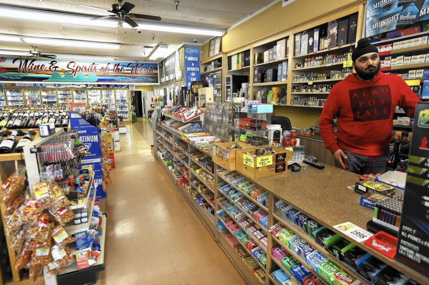 Ronnie Singh, manager of Wine and Spirits of the World in Porter Ranch, said business has been down by 15% since the middle of November as a result of the gas leak that led many residents to temporarily relocate.