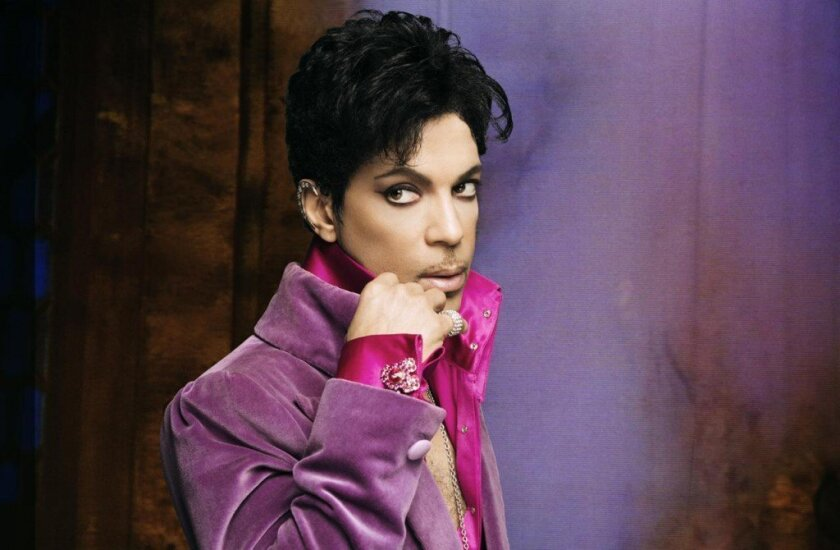 File art of Prince adjusting his collar. He died in 2016 of a fentanyl overdose.