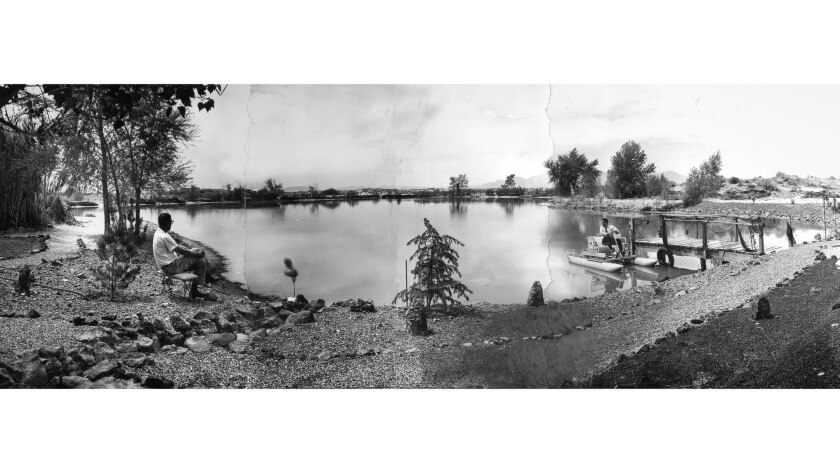 April 27, 1965: Five-acre lake buit in 1956 in Newberry, CA. It was the first of 35 lakes built in t