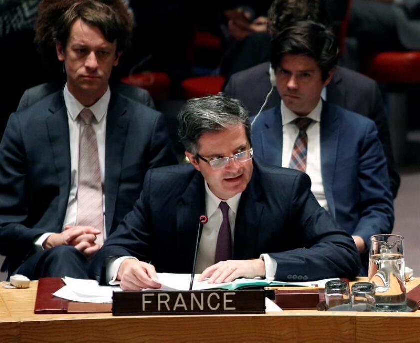 Francia y el Reino Unido anunciaron hoy que van a presentar al Consejo de Seguridad de la ONU un proyecto de resolución para sancionar a los responsables del uso de armas químicas en Siria. EFE/ARCHIVO