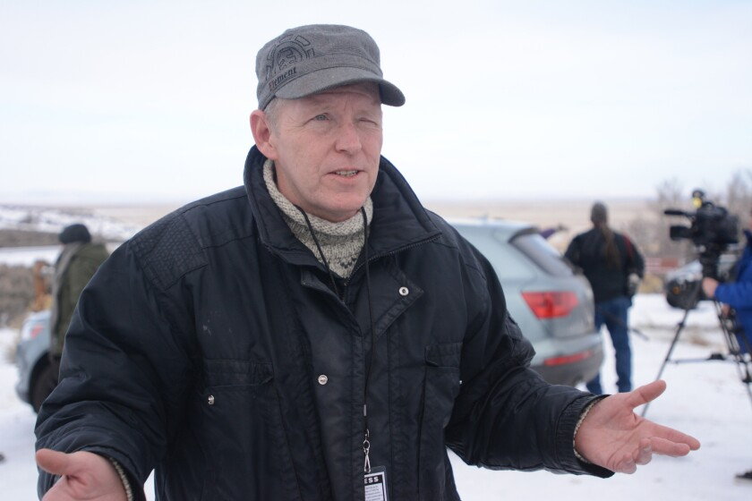 Michael Emry, a self-styled journalist, shown in January during the occupation of the Malheur National Wildlife Refuge in Oregon.