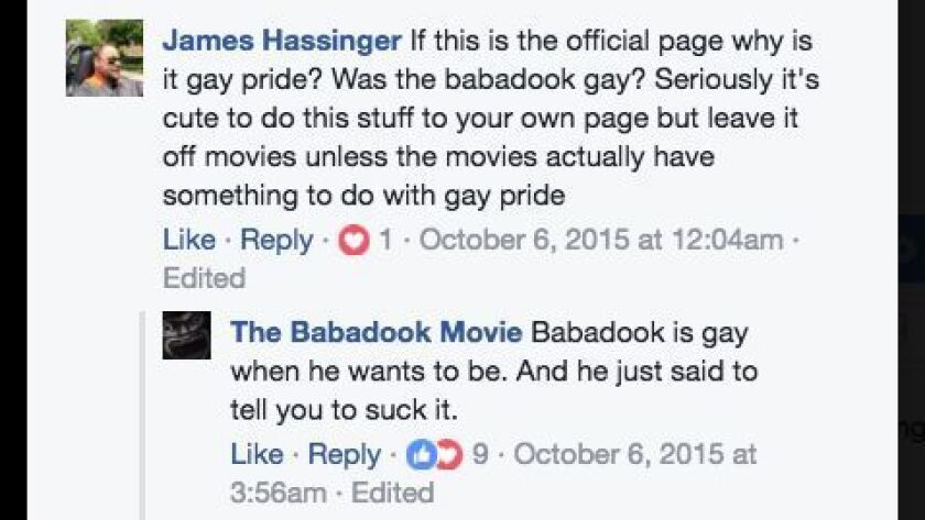 The Babadook has spoken.