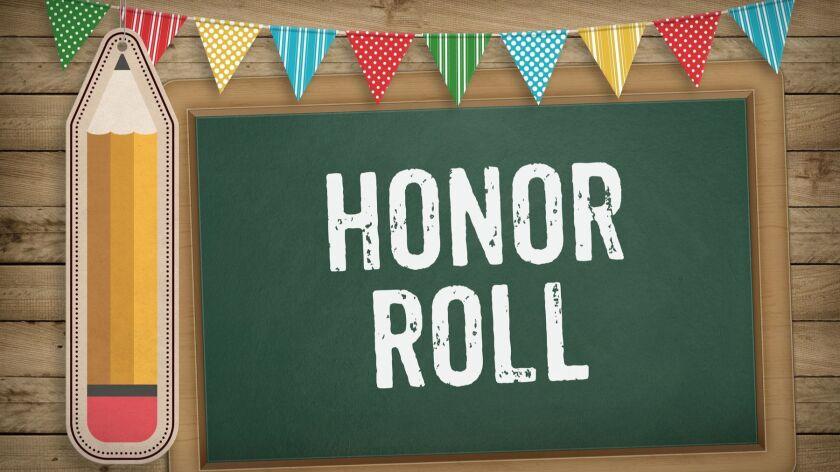 Honor Roll on blackboard, Education school concept