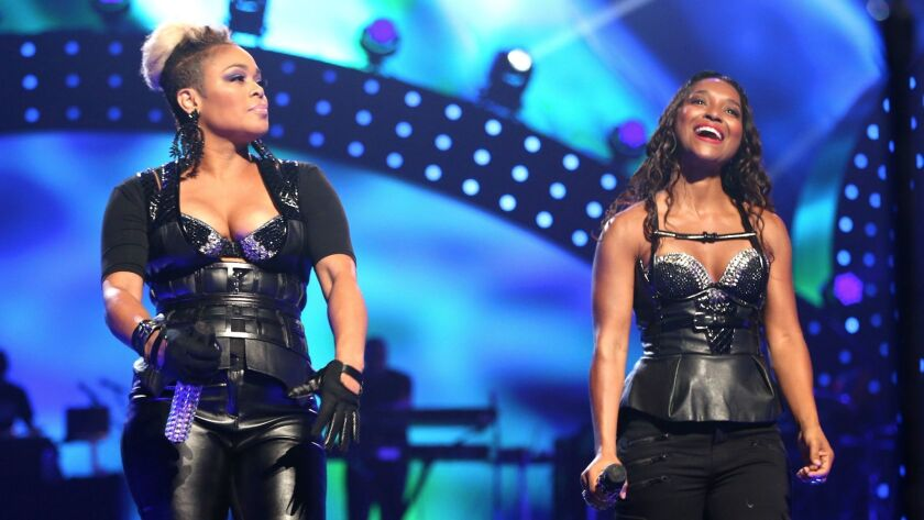 LAS VEGAS, NV - SEPTEMBER 20: Recording artists Tionne 'T-Boz' Watkins and Rozonda 'Chilli' Thomas