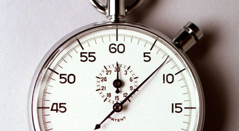 Researchers measured the range of reaction times across a group.