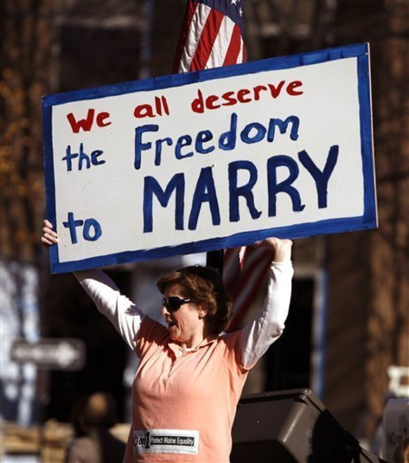 Stakes are high in Maine's vote on gay marriage - The San ...