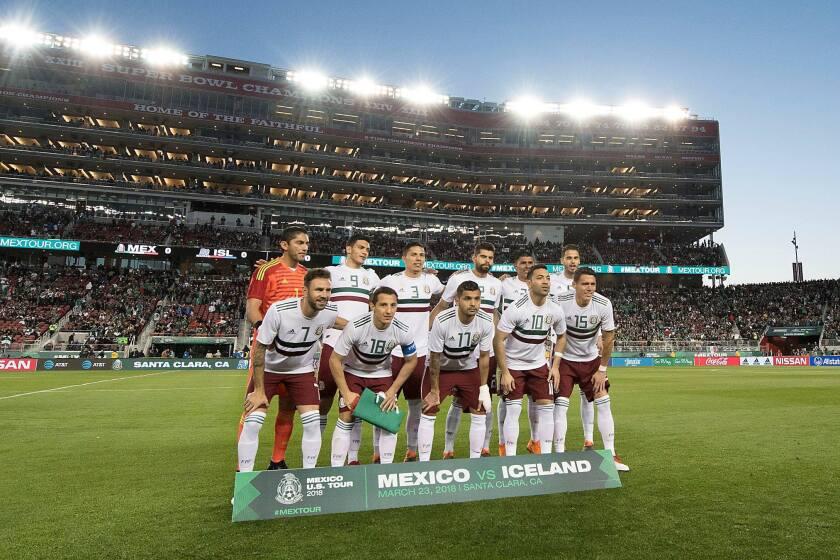 El '11' titular de México que enfrentó a Islandia, en Santa Clara.