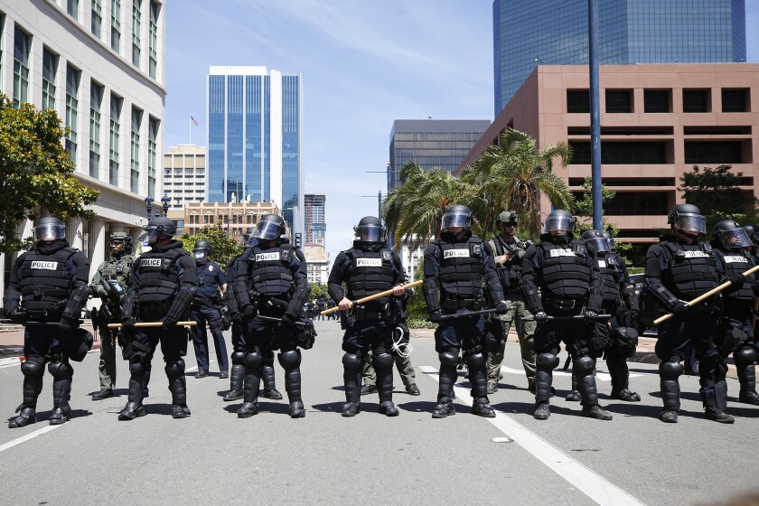 Downtown San Diego Protest