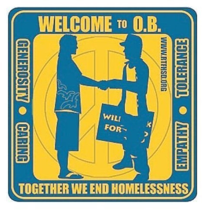 The sticker introduced by the Regional Task Force on the Homeless.