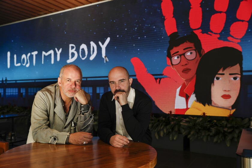 """Producer Marc du Pontavice and director Jérémy Clapin brought the eccentric animated tale """"I Lost My Body"""" to the screen."""