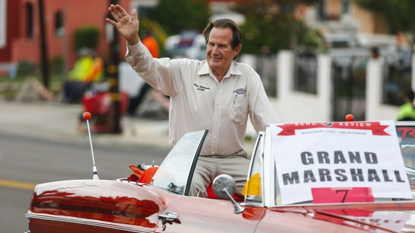 National City Mayor Ron Morrison, who has reached the end of his term and is running for city council, served as the Grand Marshall for the parade.