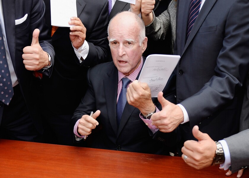 Gov. Jerry Brown signs business-friendly bills