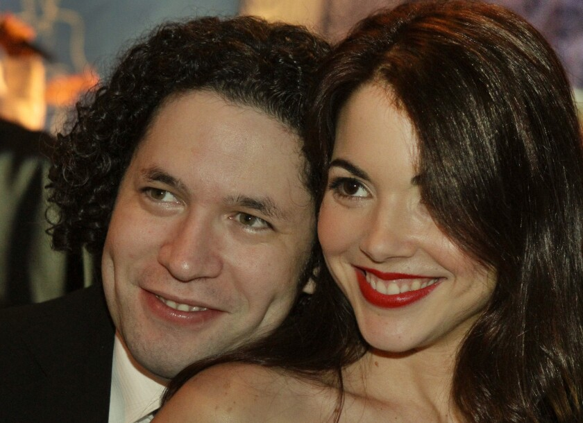 Gustavo Dudamel, the music director of the Los Angeles Philharmonic, and his wife, Eloisa Maturen, have filed for a divorce. The two have been married for nine years.