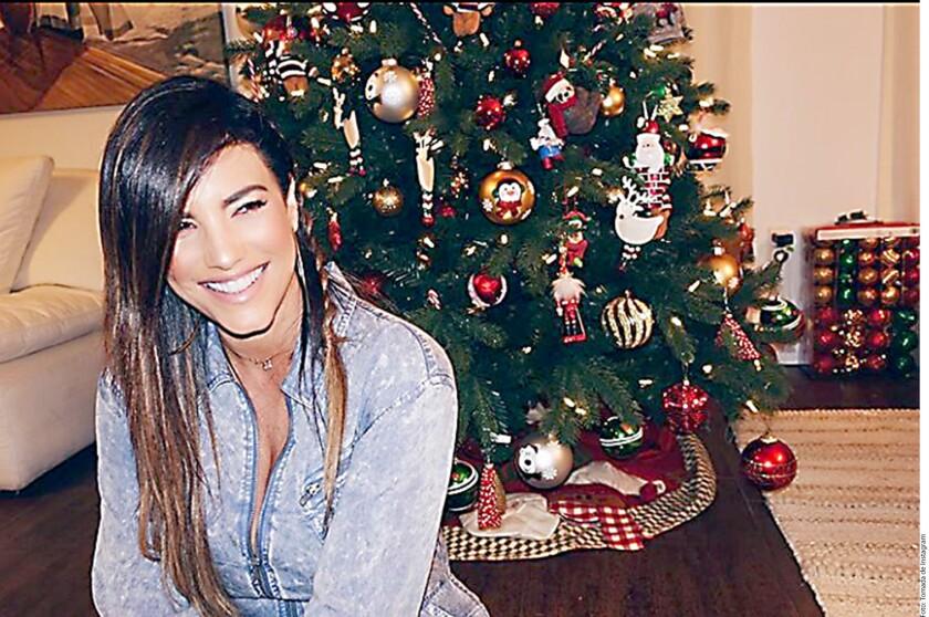 Gaby Espino celebra en su casa la Navidad