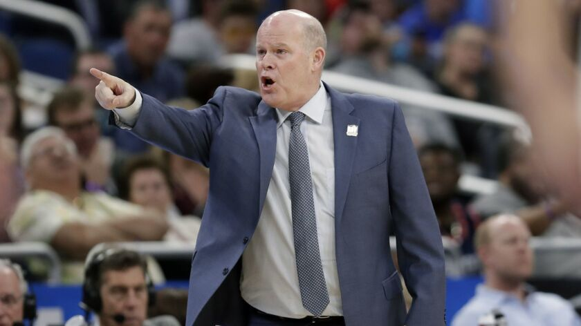 Orlando Magic head coach Steve Clifford directs his players against the New York Knicks during the s
