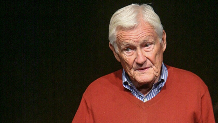 """Orson Bean performs """"Safe at Home: An Evening With Orson Bean"""" at Pacific Resident Theatre in Venice in 2016."""