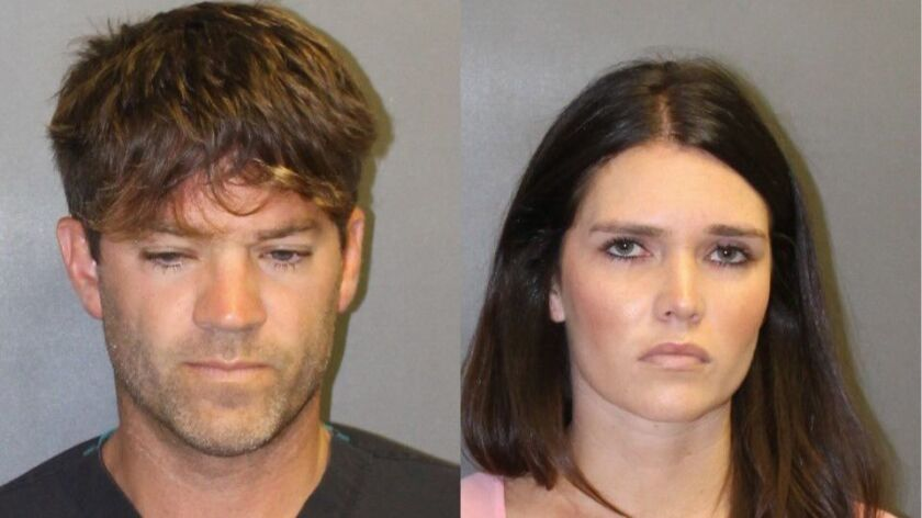 Couple charged for allegedly sexually assaulting two women by use of drugs, Newport Beach, USA - 18 Sep 2018