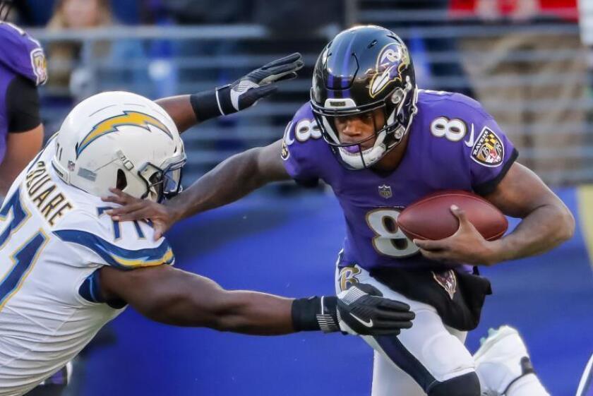 10-59. Jackson hace cinco pases de anotación y Ravens humillan a Dolphins
