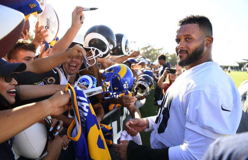 The Rams' Aaron Donald