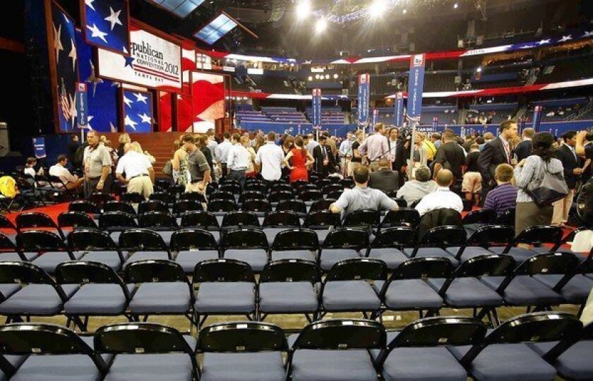 A surprising number of delegates turned out for the two-minute first session at the Republican National Convention, which begins in earnest on Tuesday.
