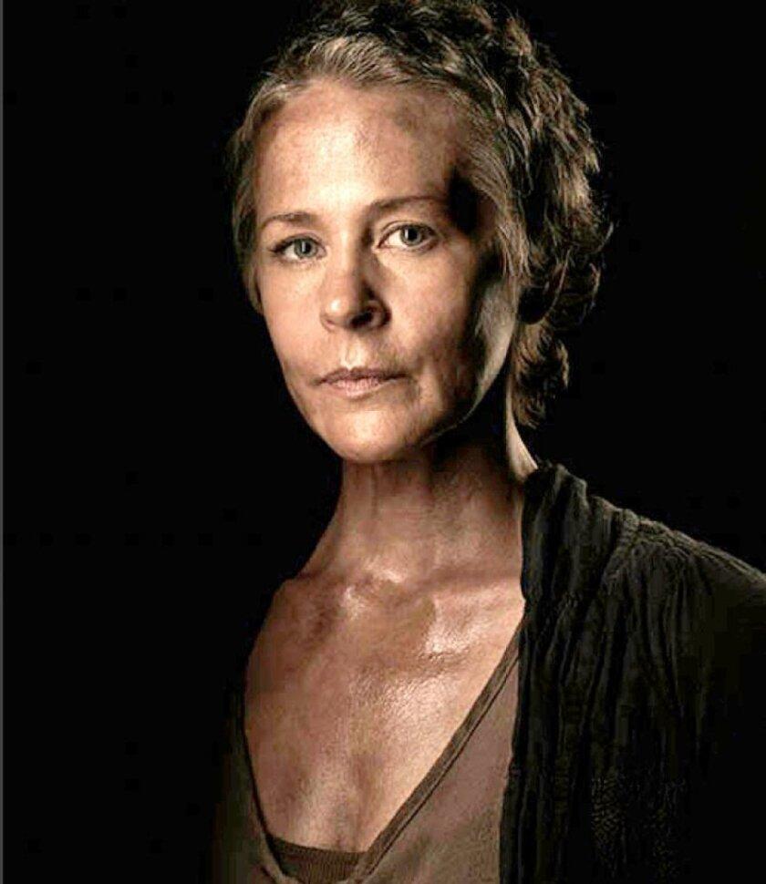 "Carol (Melissa McBride) from AMC's ""The Walking Dead."""