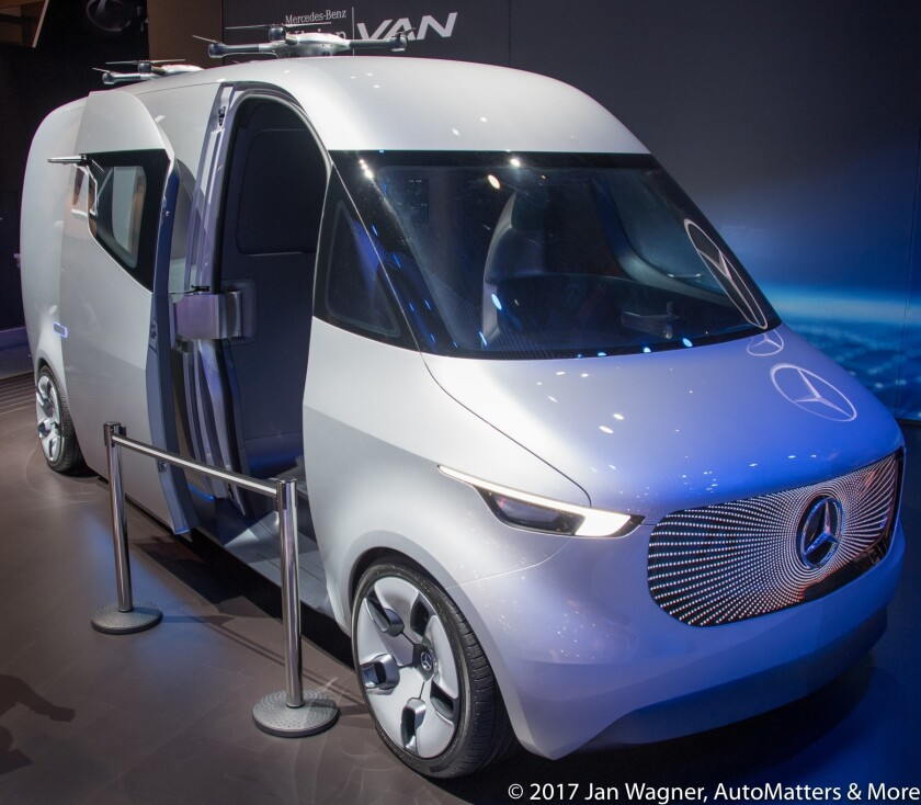 Mercedes-Benz Vision Van concept on display at CES