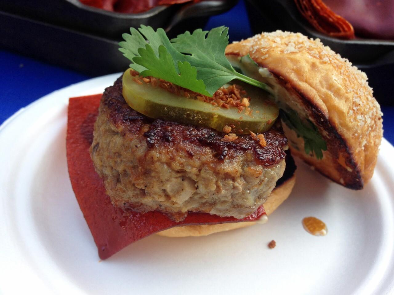 The Plan Check sriracha burger.