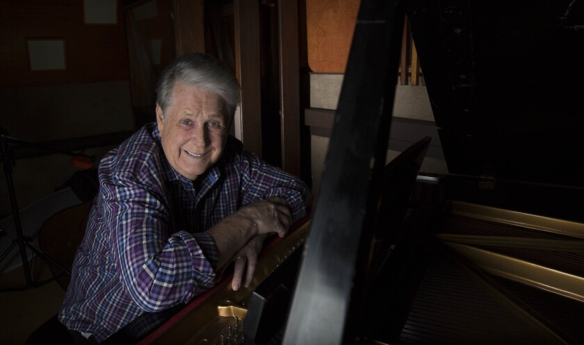 """Beach Boys founding member Brian Wilson, in the recording studio where he and his band mates recorded """"Pet Sounds."""" Wilson and his Brian Wilson Band will perform the 1966 album on July 10 at the Hollywood Bowl."""