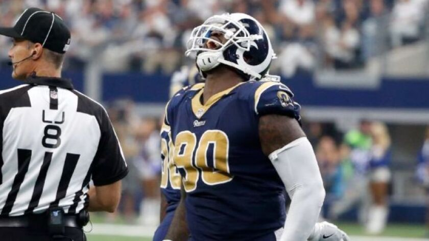 newest e0581 1a9a1 Rams like what they see with Michael Brockers on the outside ...
