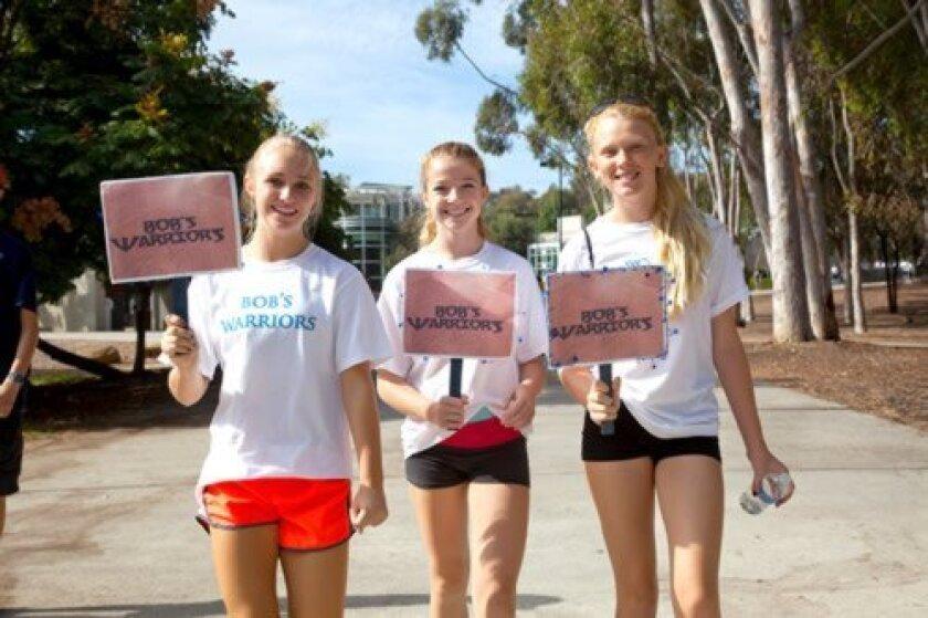 Kasey Hetzel, Kiera Mooney and Aubrey French during the 2012 Bruce Gorder walk. Courtesy