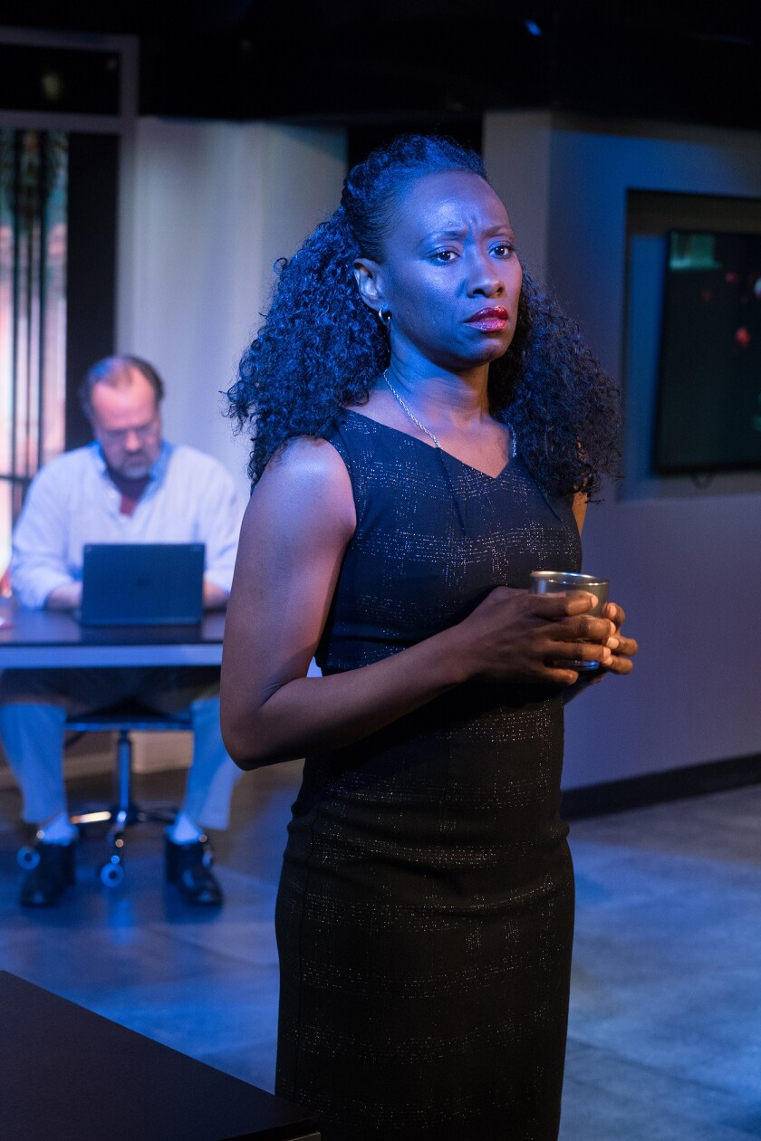 "Tanya Alexander and Rob Nagle in Stephen Sachs' ""Human Interest Story"" at the Fountain Theatre."