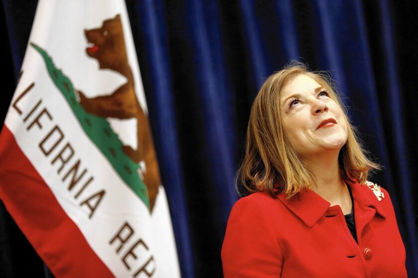 Rep. Loretta Sanchez is trailing Democratic rival Kamala Harris in her bid for the U.S. Senate, polls show.