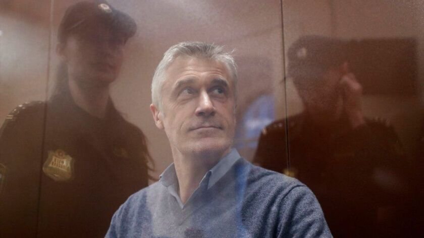 Baring Vostok investment company founder and company's partners detained in Moscow on fraud counts, Russian Federation - 15 Feb 2019